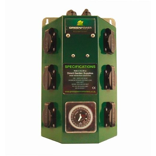 Greenpower contactor timer 6x600w (max. 4x1000w)
